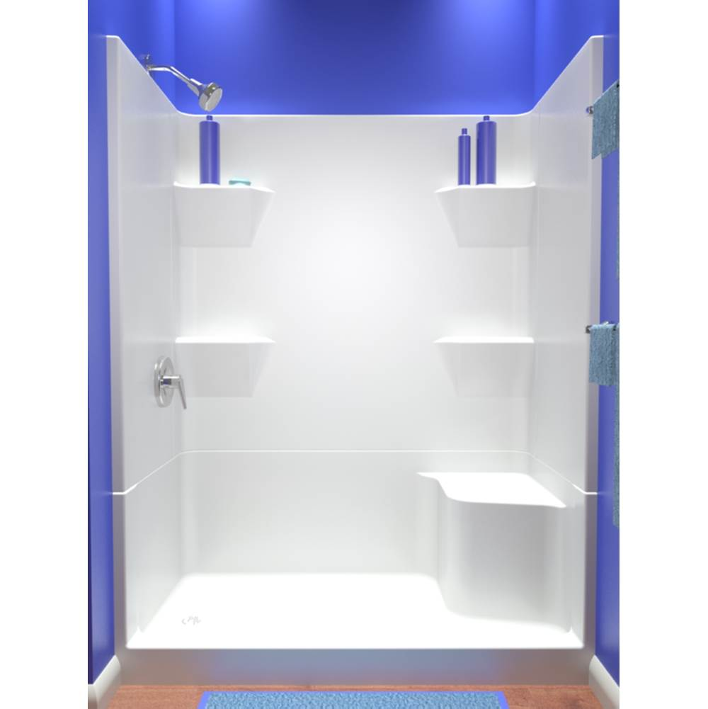 Diamond Tub And Showers   SRRB4 SRLB4 603180   60u0027u0027 4 Piece Smooth Wall  Remodeler Shower