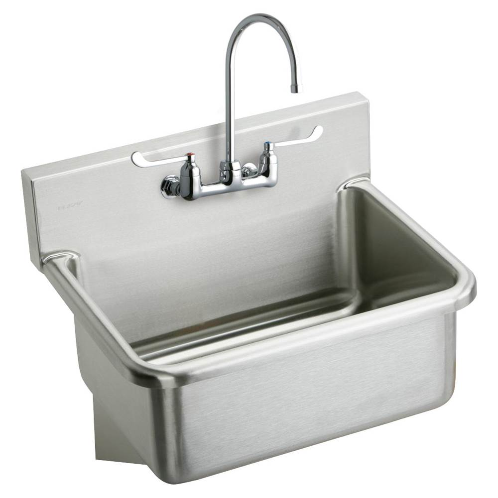 Elkay Ews3120w6c Stainless Steel 31 X 19 5 10 1 2 Wall Hung Single Bowl Hand Wash Sink Kit