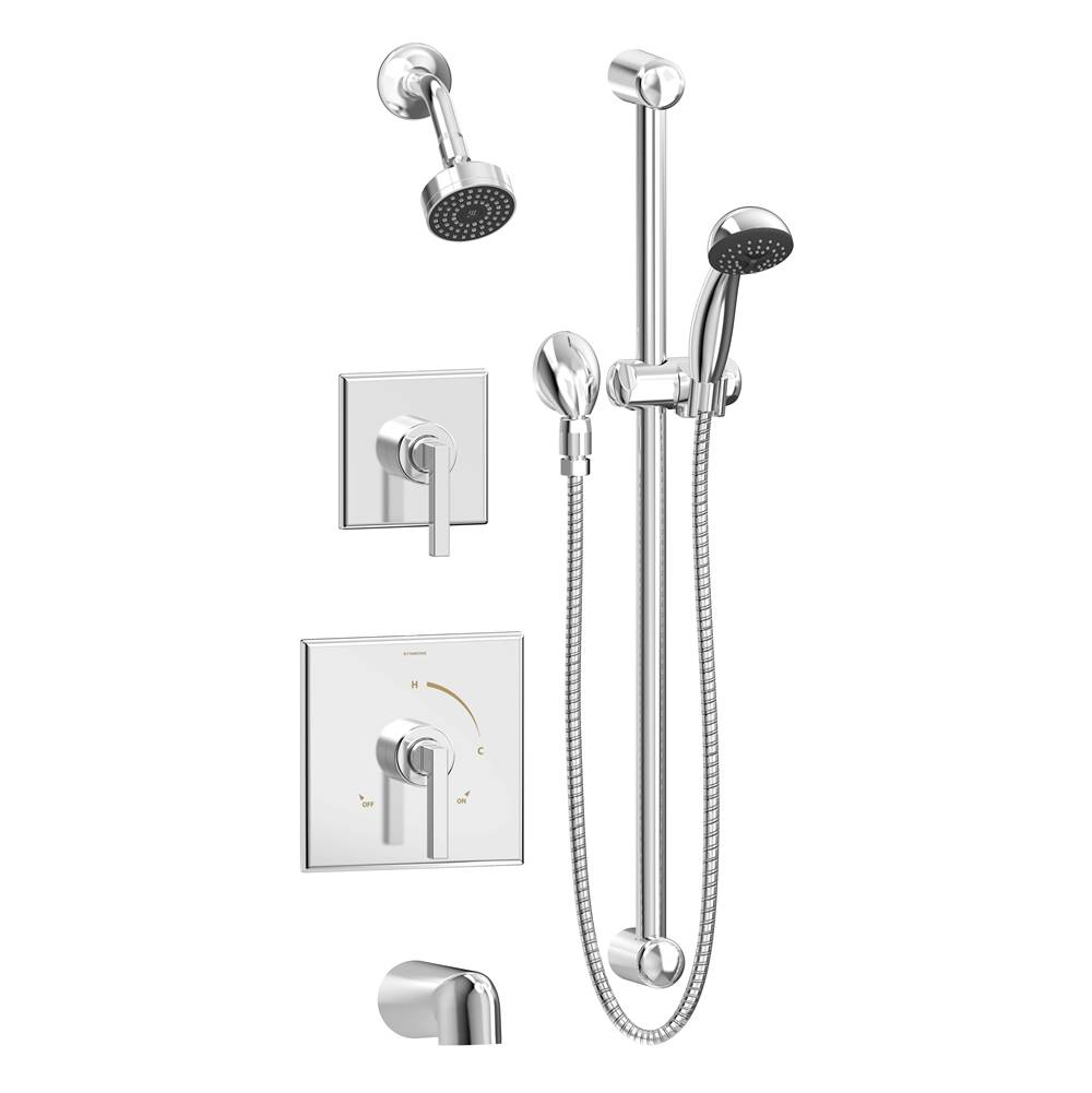 Symmons 3606 H321 V TRM At Winthrop Supply Complete Systems Shower Systems  In A Decorative Chrome Finish